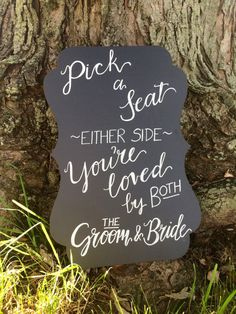 Pick a Seat Wedding Ceremony Sign by Scriptsakes on Etsy