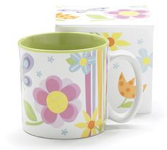 Flitter Flutter butterfly ceramic Coffee Cup or Hot Chocolate mug with gift box. Holds 13 oz. Dishwasher safe/FDA approved/Microwave safe.