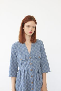 Shop NOE dress (bleached sashiko-embroidered cotton) from Heinui in Dresses, available on Tictail from in XS weeks lead time before shipping), S, M weeks lead time before shipping), L weeks lead time before shipping) Bleach, My Style, Cotton, Shopping, Clothes, Beautiful, Things To Sell, Lead Time, Tops