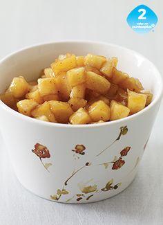 Relleno de Pay de Manzana - Weight Watchers México - Sirve este relleno dentro de una corteza previamente elaborada o en pequeños copos para postre. También puedes mezclarlo con avena caliente, para darte un gusto dulce por la mañana.
