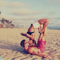 Couples yoga. More inspiration at: http://www.valenciamindfulnessretreat.org