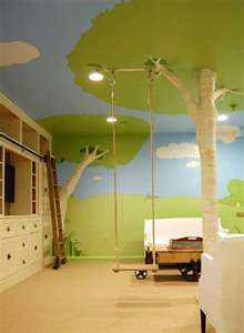 I would love this in Jenna's room. I would want a Bookshelf coming out of the tree and one of those big swings that you can relax in.