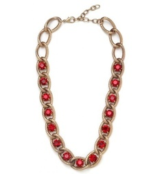 Only $34! WANT // BaubleBar + Nina Garcia Ruby Chain Strand Necklace