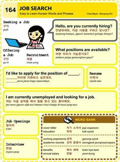 Easy to Learn Korean 164 - Job Search (Vocab)