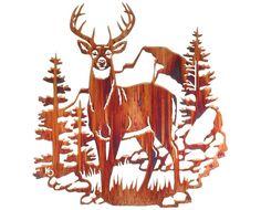 Buck on the Mountain Metal Wall Hanging