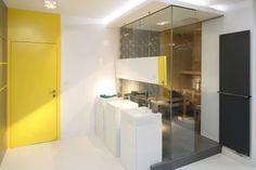 Porady - Prysznic w łazience - najmodniejsze projekty architektów    Łazienka.pl Loft Style Apartments, Kitchen, Projects, Furniture, Design, Home Decor, Log Projects, Cooking, Blue Prints
