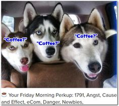 ☕ Your Friday Morning Perkup: 1791, Angst, Cause and Effect, eCom, Danger, Newbies,