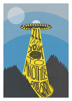 The Prodigy Print Poster Out Of Space UFO Space by FoxAndVelvet