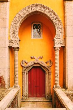 The Utterly Beautiful Pena Palace Of Sintra, Portugal Cool Doors, Unique Doors, Entrance Doors, Doorway, Front Doors, Pena Palace, Sintra Portugal, Portugal Travel, Portugal Trip