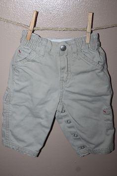Cargo pants, 6-12 months - merrilymerrily.ca