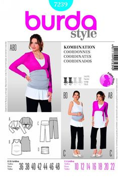 Retro Sewing 21 Pretty Photo of Maternity Sewing Patterns Maternity Sewing Patterns Burda 7239 Maternity Top And Pants Belly Band Maternity Dress Pattern, Maternity Sewing Patterns, Easy Sewing Patterns, Simplicity Sewing Patterns, Easy Sewing Projects, Vintage Sewing Patterns, Dress Sewing Tutorials, Maternity Tops, Free Sewing