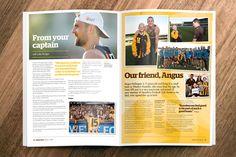 Hawthorn Football Club #Hawktalk  #Magazine #layout #hawks