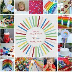 homemade by jill: rainbow birthday party!