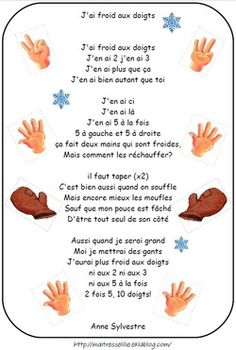 Les comptines : Hiver, froid, banquise, bonhomme d. Study French, Core French, Learn French Fast, How To Speak French, Ways Of Learning, Kids Learning, English French Dictionary, French Poems, French Nursery