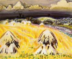 "Charles Burchfield ""Wheatfields"", 1917 (USA, American Scene Painting, 20th cent.)"
