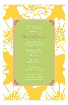 White Poppy Invitation
