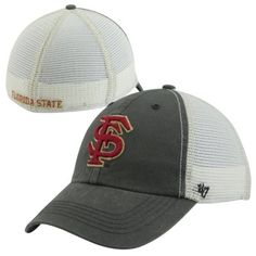 0bee4ae0d24  47 Brand Florida State Seminoles (FSU) Caprock Canyon Flex Hat - Charcoal