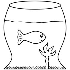 this goldfish in a fish bowl coloring page features a picture of a goldfish in a fish bowl to color the coloring page is printable and can be used in the - Fish Bowl Coloring Page Printable