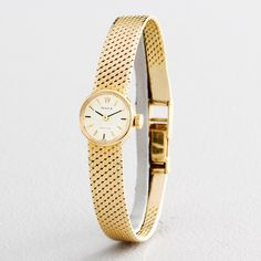 Ladies Rolex Vintage Deco Solid 18K Yellow Gold Watch