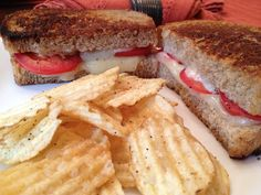 Grilled Swiss Cheese and Tomato Sandwiches - This looks amazing! Will need to try asap!