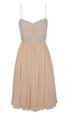 Miss Selfridge SS13 Nude Dress