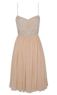 Miss Selfridge SS13 Nude Dress