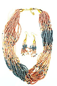 Multi Strand Seed Bead Necklace Set from Chic It Up Boutique