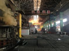 Photo of the Chollima Steelworks in Kangson County, North Korea.