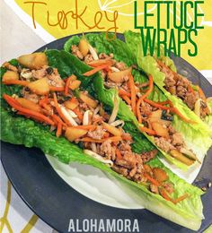 Alohamora: Open a Book: Healthy & Delicious Turkey Lettuce Wraps My husbands absolute favorite dinner!  He requested them for his birthday... just like he did last year.