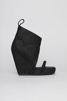 Rick Owens Wedge Sandal (Black)