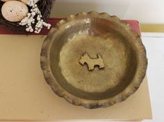 Vintage Brass Dish or Ashtray, Brass Dish with Scottie Dog, Vintage Brass Ashtray, Brass Dish by TomatoFarmVintage on Etsy