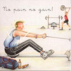 No Pain No Gain By Berni Parker