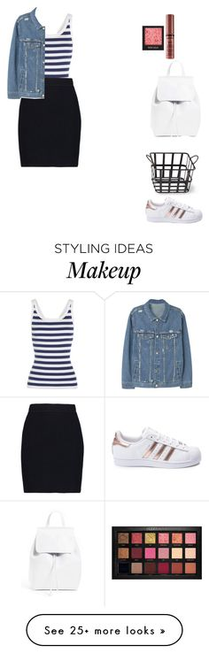 """""""You're the one who needs to wake up"""" by italicc on Polyvore featuring Dolce&Gabbana, Helmut Lang, MANGO, Mansur Gavriel, Cyan Design, adidas, Huda Beauty and NYX"""