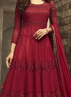 Shop for Red Mohini Designer Heavy Anarkali Suit Online. Only 100% Original Product with High-Quality Fabric Material at Discounted Price. NO REPLICA GUARANTEED. Salwar Pants, Silk Anarkali Suits, Salwar Kameez, Indian Fashion, Women's Fashion, Prachi Desai, Palazzo Suit, Fabric Material, Get Dressed