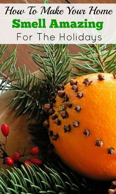 How to make cloved oranges aka a pomander.  A simple, inexpensive way to add traditional holiday decor (and aroma) to your home.