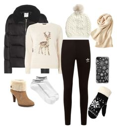 """""""let it snow ❄❄"""" by sharifahfun on Polyvore featuring Wood Wood, Dorothy Perkins, adidas Originals, Uniqlo, Calvin Klein, Anne Klein, Casetify and WithChic"""