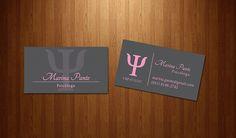 Cartão de visita desenvolvido para a Psicologa Marina Pante