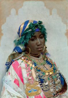 Beauté de Tanger, c, 1891 Watercolor - Jean-Joseph Benjamin-Constant (French,1845-1902) Orientalism