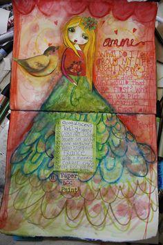 Prettygirl journal page by suzi blu - VIDEO