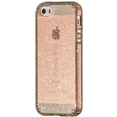 Women's Speck 'Candyshell' Iphone 5, 5S & Se Case ($35) ❤ liked on Polyvore featuring accessories, tech accessories, clear gold glitter, slim iphone case, glitter iphone case, clear iphone cases, iphone cases and apple iphone cases
