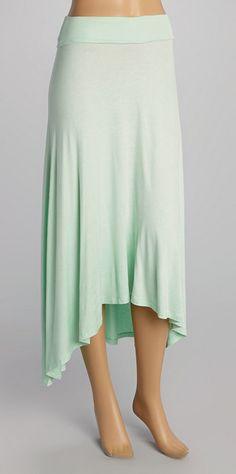 Mint Draped Maxi Skirt looks soo comfy! And cute!