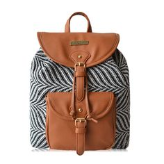 Zebra Stripes Drawstring Hasp Travel Bag Satchel Backpack on Luulla