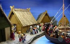 vikingos playmobil - maqueta