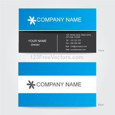 Vector business card design template pinterest business card corporate business card template illustrator accmission Choice Image