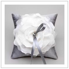 Love this Ring Bearers pillow. I want to DIY and use parts of my mother's, and grandmothers' dresses for the flower.