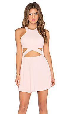 NBD x Naven Twins Chromat Fit & Flare Dress in Blush Pink