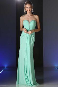 Strapless Long Evening Dress CD663