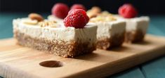 Get ready to enjoy the zesty, refreshing flavors of this raw vegan cheesecake. Cut them into bars for perfectly healthy bite-size desserts.