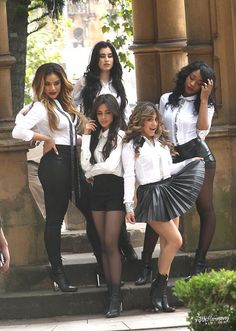 American girl group, Fifth Harmony posed together in Surry Hills on February, All were dressed in black and white outfits and posed… Hamilton, Divas, Fifth Harmony Camren, Camila And Lauren, Ally Brooke, Woman Crush, Role Models, American Girl, My Girl