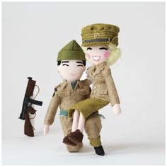 Remembering the World War II Heroes.  My latest custom order for Ryan and his partner from recent WW2 reenactment event. Ryan is dressed as a British Commando and his partner is dressed as a member of the ATS.